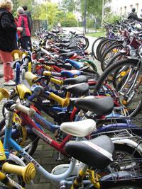 54 Fahrräder für Kinder im Asylbewerberheim