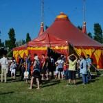 Unsere Aufführung im Zirkuszelt